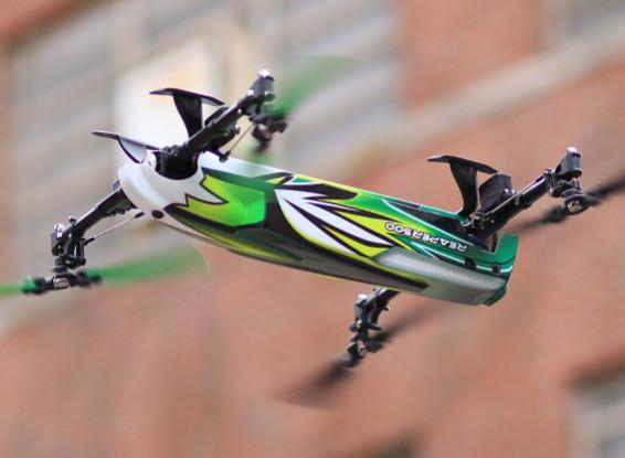 Asalto Reaper 500 Collective Pitch Quadcopter 3D (Modo 1) (listo para volar Lite)