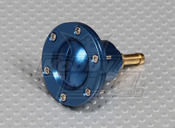CNC de la aleación de llenado de combustible de puerto para los modelos a gran escala de gas / combustible de turbina (Dot - azul)
