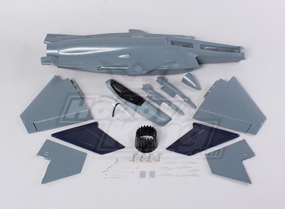 Mini EDF avión de combate (EPO) (Kit)