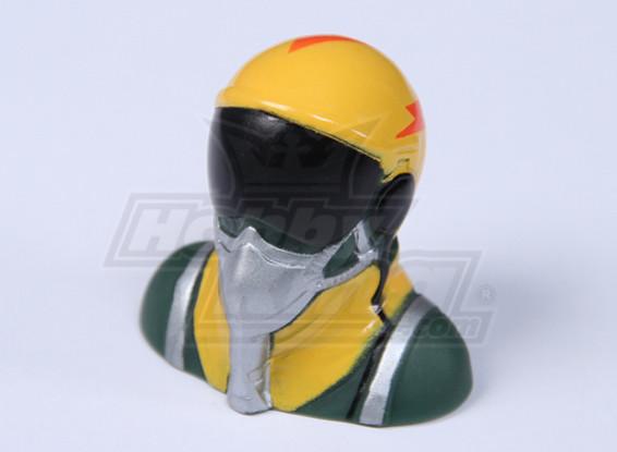 Jet del piloto (amarillo) (H38 x W40 x D25mm)