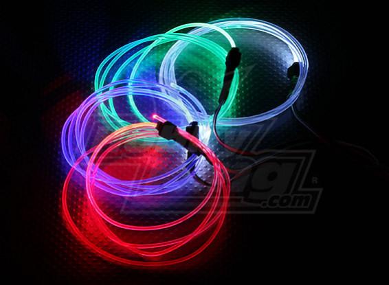 La fibra óptica se enciende para el vuelo de la noche (blanco)