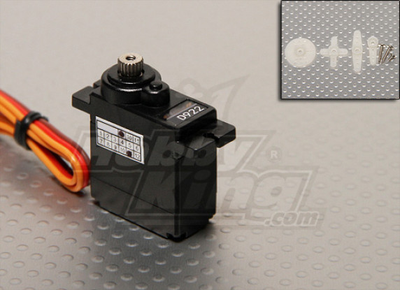 1,8 kg D922MG metal Digital Gear Servo / 12 g / 0.07sec