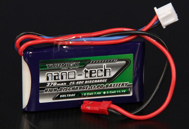 Turnigy nano-tech 370mAh 2S 25 ~ 40C Lipo Pack de