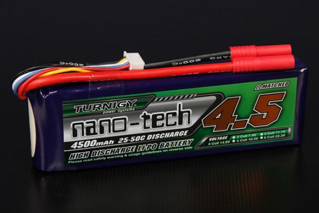 Turnigy nano-tech 4500mAh 4S 25 ~ 50C Lipo Pack de