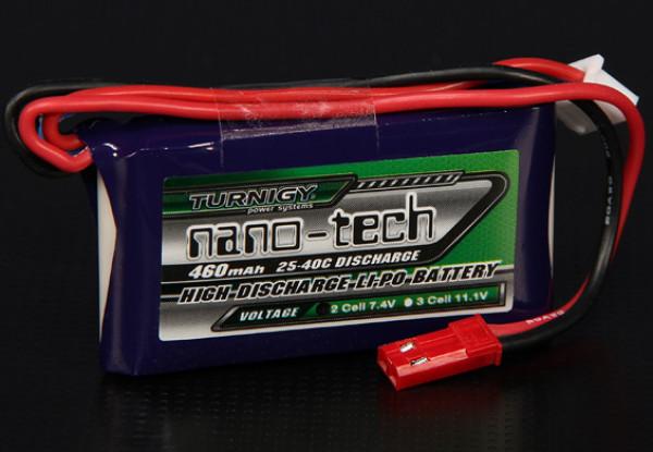 Turnigy nano-tech 460mah 2S 25 ~ 40C Lipo Pack de