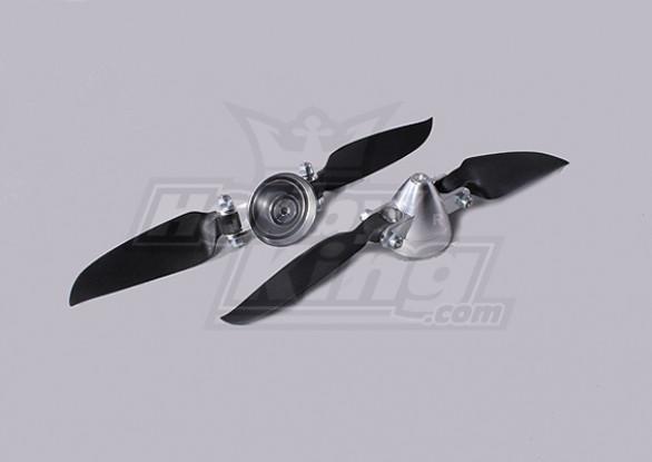Plegable 6.5x3 ensamblador Propeller (Aleación / Hub Spinner) (2 piezas / bolsa)
