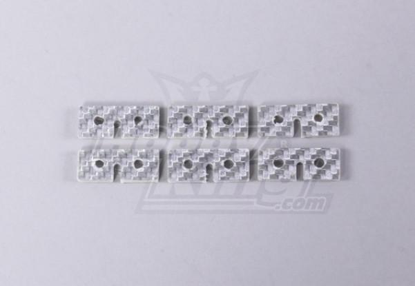 La fibra de vidrio Servo placa de fijación (Universal Uso) (6pc / bolsa)