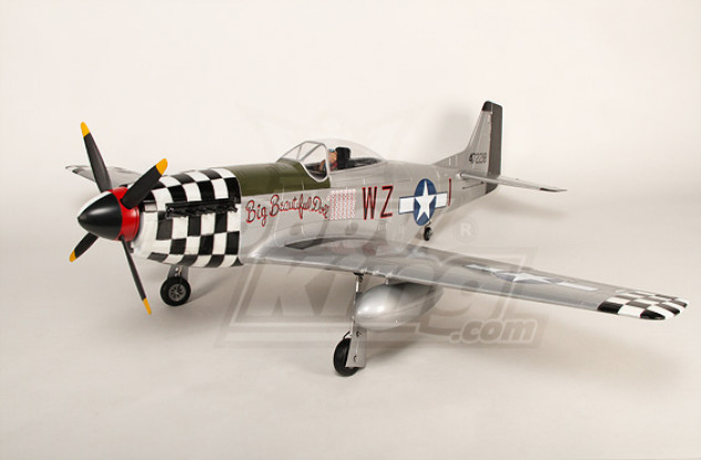 P-51D Mustang Monster 1.55m 6Ch XL-OEP-61inch PNF