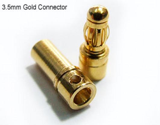 PolyMax conectores de oro de 3,5 mm de 10 pares (20PC)