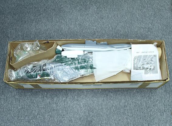 SCRATCH / DENT Hawker Hunter w / 70 mm de aleación de 10 cuchilla de EDF / retrae completamente de metal / Flaps 866mm (PNF)
