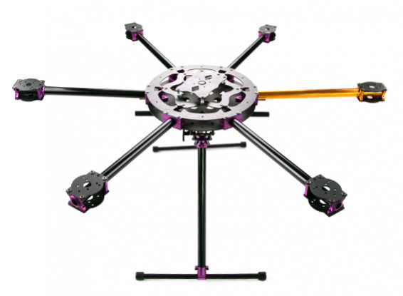 SCRATCH / DENT - HobbyKing ™ S700 carbono y marco de metal con Hexacopter Retractab