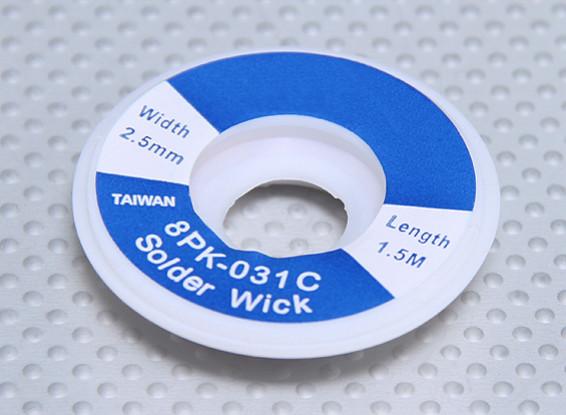 Desoldar trenza de 2,5 mm / 1,5 m