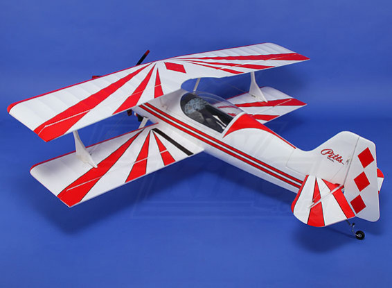 Pitts 12 OEP 1600 mm w / motor sin escobillas y Servos (ARF) (rojo / blanco)