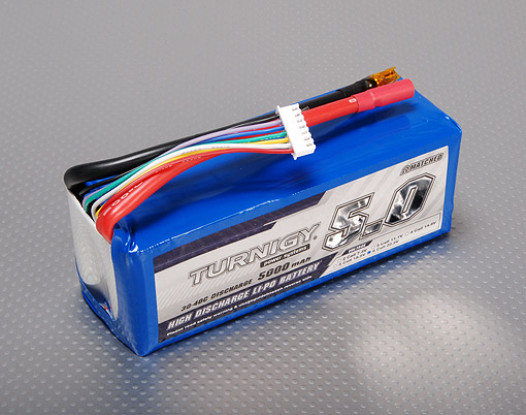 Turnigy 5000mAh 6S Lipo 30C Paquete