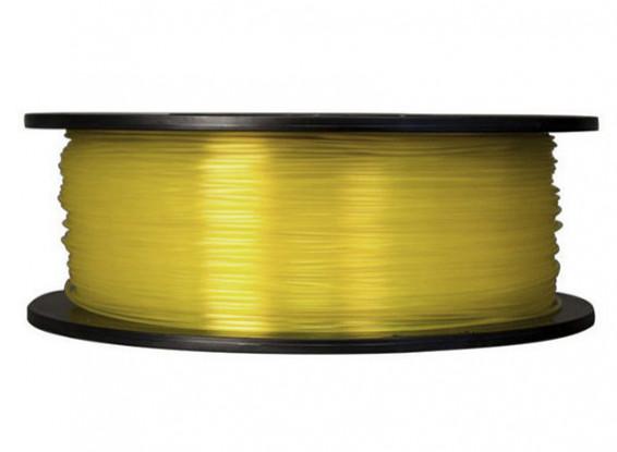 CoLiDo 3D Filamento impresora 1.75mm PLA 1kg Carrete (amarillo traslúcido)