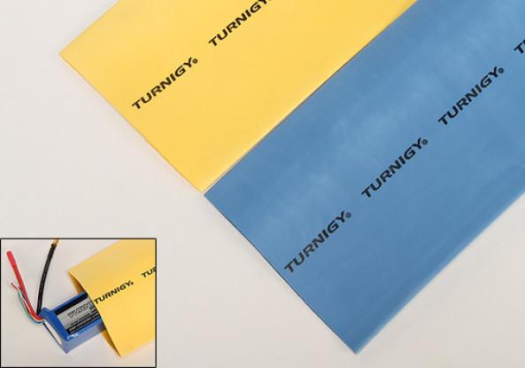 Turnigy del encogimiento del calor del tubo de 100 mm azul (1mtr)