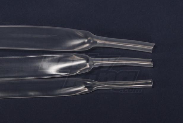 Turnigy encogimiento del calor de 25 mm de tubo transparente (1mtr)