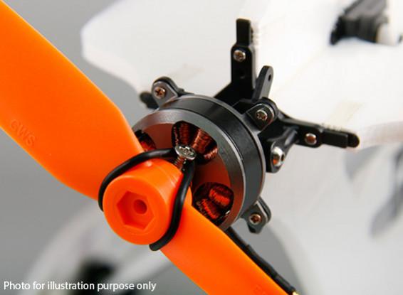 Micro 3D de un solo eje de empuje vectorial montaje del motor sin escobillas Kit Inc. 2204 Outrunner