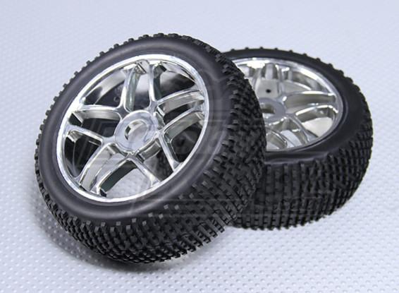 1/8 Buggy las ruedas y los neumáticos de 17 mm Hex (2 piezas)