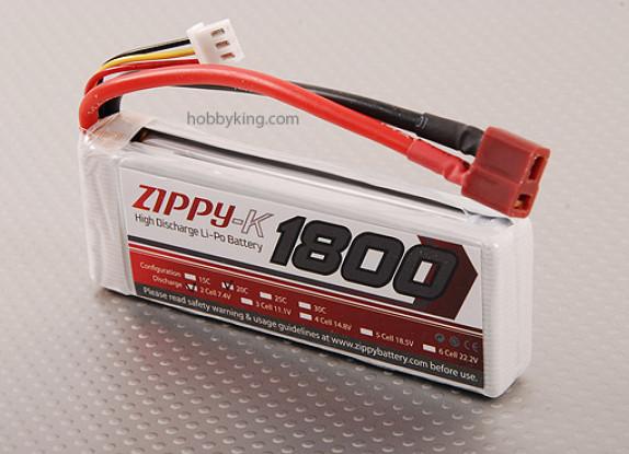 Zippy-K 1800 paquete de 2S1P 20C Lipo