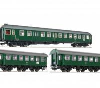 Roco/Fleischmann HO Scale 3 Piece Murnau-Oberammergau DB Passenger Coach Set w/ Integrated Decoder