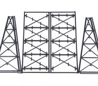 Micro Engineering N Scale Tall Steel Viaduct Tower or Bents Kit (75-176)
