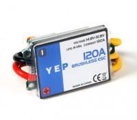 HobbyKing YEP 120A HV (4 ~ 14S) regulador de la velocidad sin escobillas (OPTO)