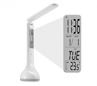 LED Table Reading Smart Lamp Rechargeable With Clock Alarm Temp Adjustable Color & Brightness