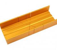 Ranura Zona de aluminio fino caja de ingletes
