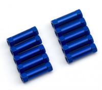 Ligera Ronda de aluminio Sección espaciador M3x13mm (azul) (10 piezas)