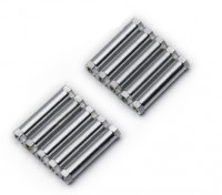Ligera Ronda de aluminio Sección espaciador M3x25mm (plata) (10 piezas)