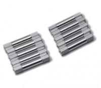 Ligera Ronda de aluminio Sección espaciador M3x29mm (plata) (10 piezas)