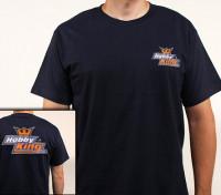 Manía Rey de la camiseta Azul marino (XXX-Large)