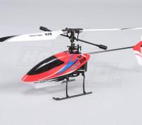 Solo Pro 328 de 4 canales helicóptero fijo Pitch - Rojo (RTF) Enchufe de EE.UU.