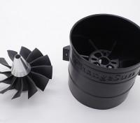 12 Cuchilla de alto rendimiento de 90 mm Unidad de EDF conductos del ventilador