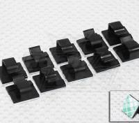 Tie-D-alambres del cable de cables y soportes (10pc)