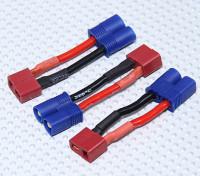 EC3 al adaptador de batería Conector-T (3pcs / bolsa)