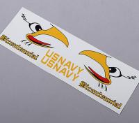 Marina de los EE.UU. de la cola auto-adhesivo de la etiqueta - Bicentenario (traje de 70mm / 90mm EDF)