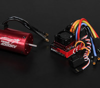 Turnigy TrackStar impermeable 1/10 sin escobillas de alimentación del sistema 4000KV / 80A