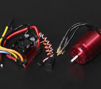 Turnigy TrackStar impermeable 1/8 sin escobillas de alimentación del sistema 2100KV / 120A