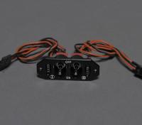 Para dos interruptores de potencia RX / CDI con doble carga / Comprobar el voltaje puertos