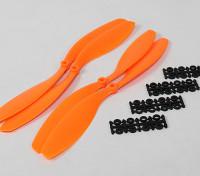 12x4.5 SF Puntales de 2 piezas estándar Rotación / 2 pc RH rotación (naranja)