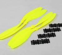12x4.5 SF Puntales de 2 piezas estándar Rotación / 2 pc RH rotación (Flouro amarillo)