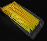 Zip eléctrica / 4mm de uniones de cable de nylon x 150 mm - 100 / bolsa (amarillo)