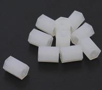 5,6 mm x 8 mm M3 de nylon roscado espaciador (10pc)