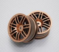 Escala 1:10 alta calidad Touring / deriva de las ruedas del coche RC de 12 mm Hex (2 piezas) CR-RS4G