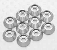 Sockethead arandela de aluminio anodizado M3 (plata) (10 piezas)