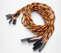 Twisted 80cm Servo cable de prolongación (JR) 22 AWG (5pcs / set)