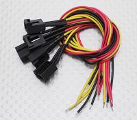 Molex de 3 pines Cable conector hembra con 220 mm x 26 AWG alambre.