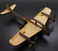 Bombardero de combatiente militar cortado con láser Modelo de madera (KIT)